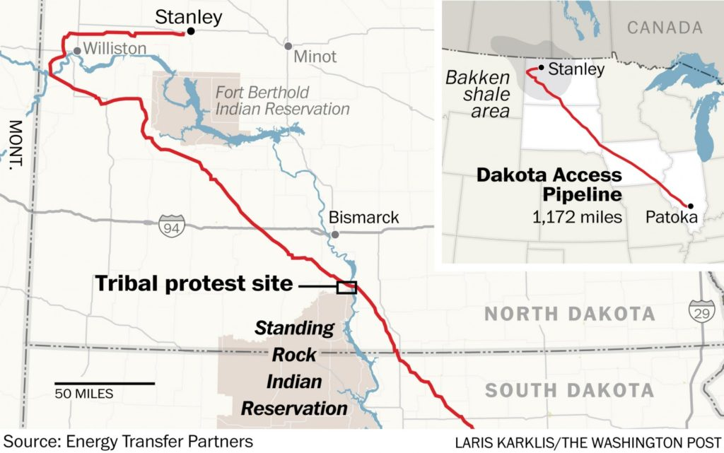 map of dapl route and water