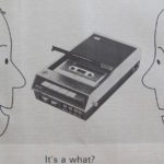 old ad for a tape deck