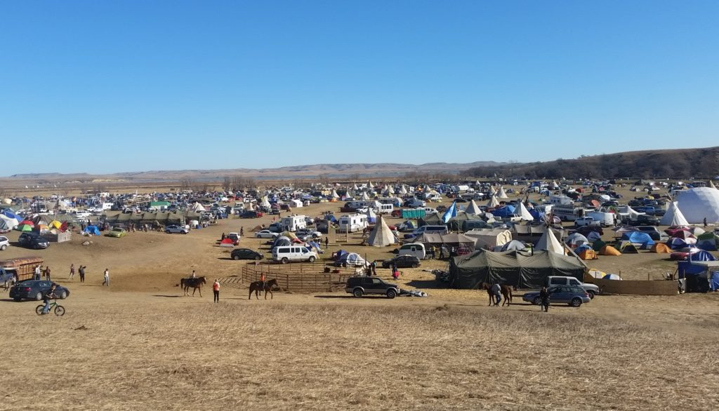 camping at standing rock tents