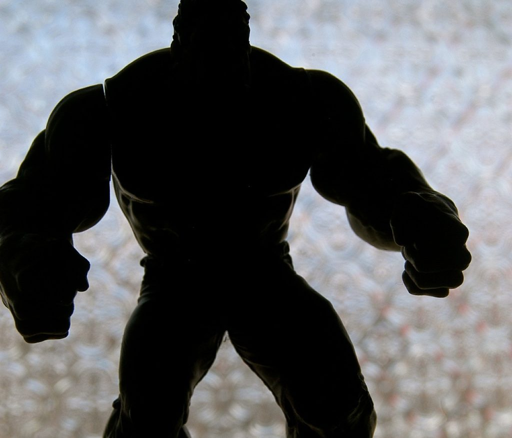 shadow outline of the hulk