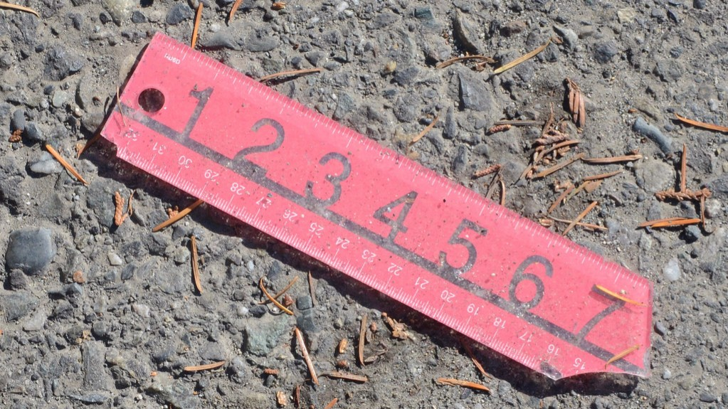 broken ruler on the ground
