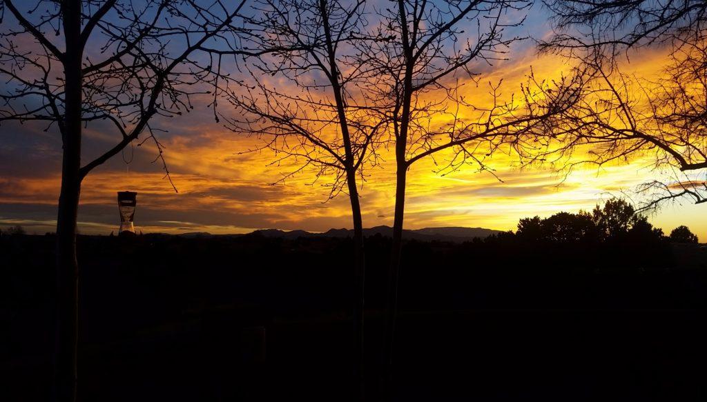 sunset in santa fe