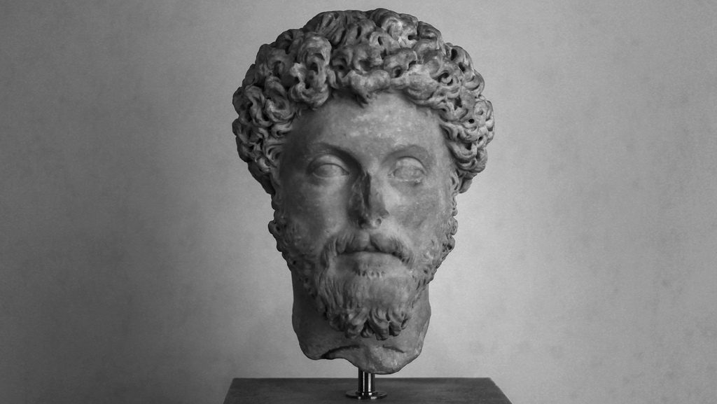 greek marble statue of head