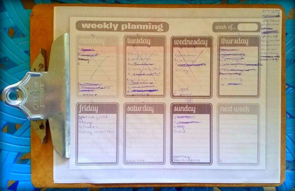 calendar to-do list example