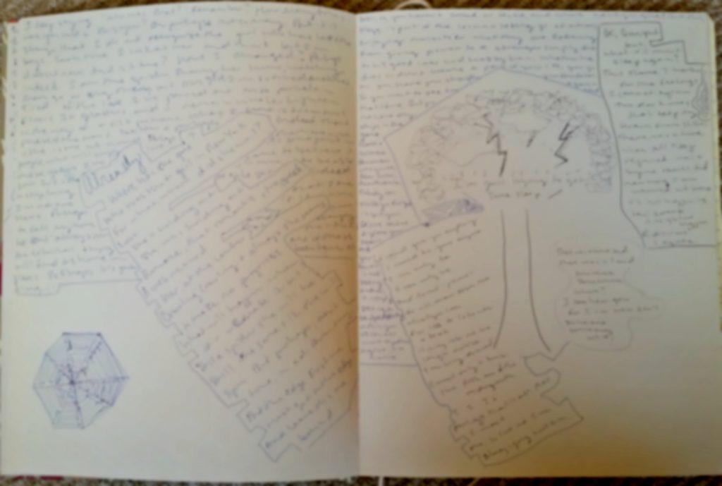 big notebook drawing