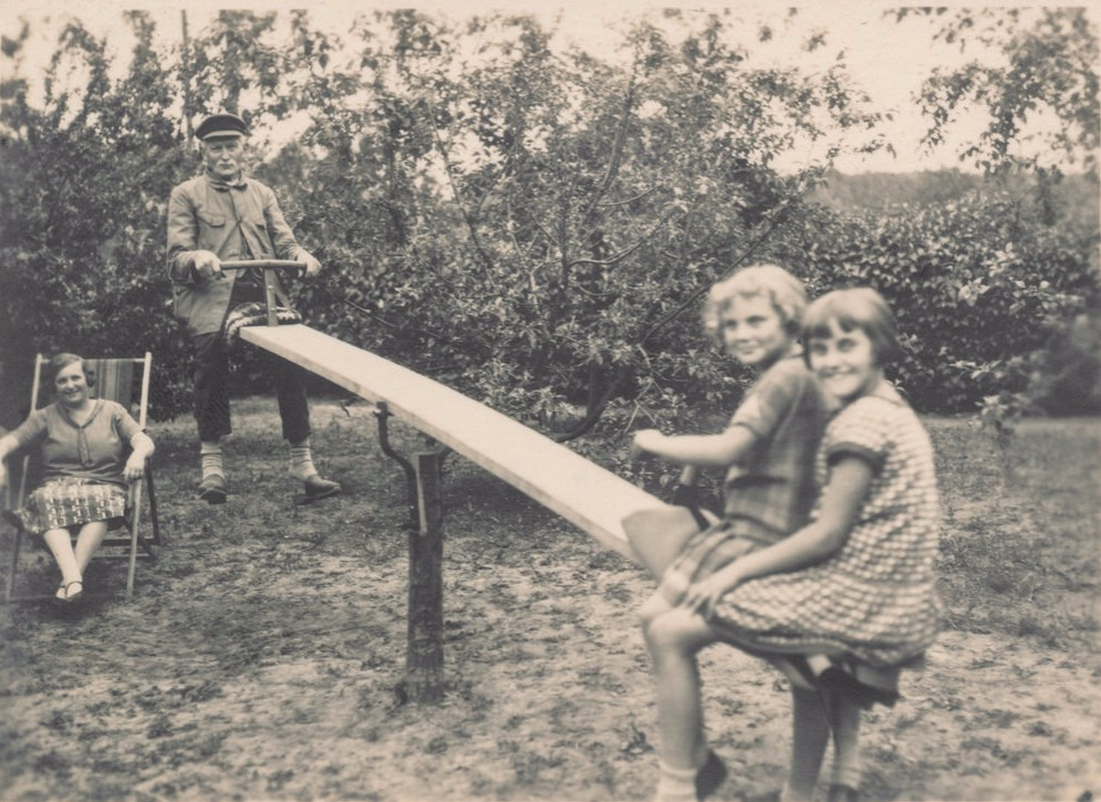 family on a see saw