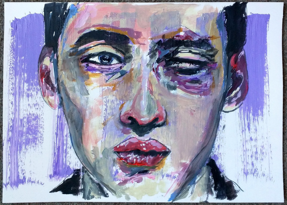 painting of guy with black eye