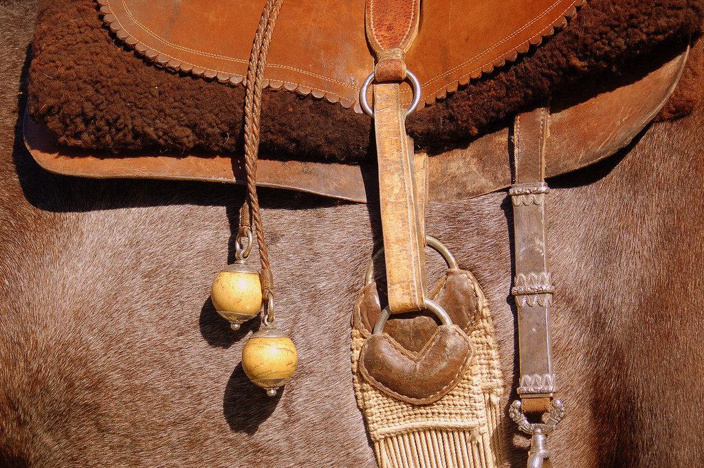 horseback riding saddle art