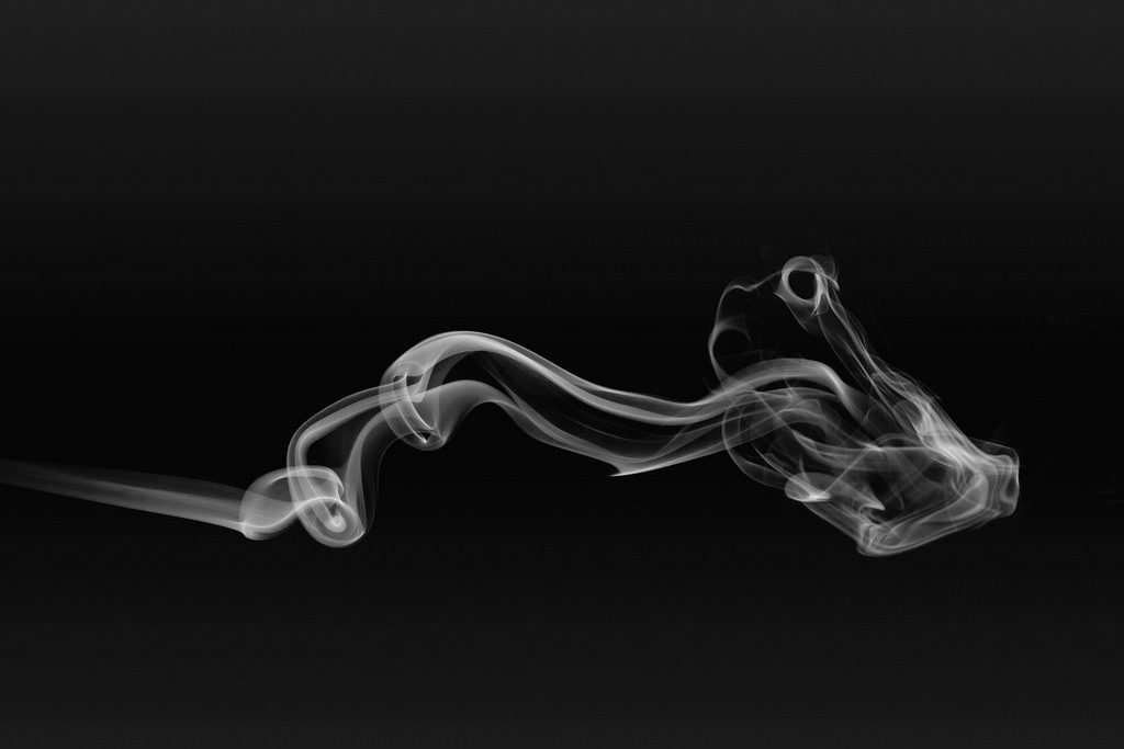 wisp of smoke being released