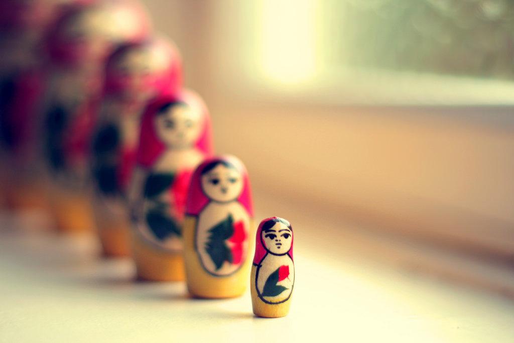 russian nesting dolls to represent goals