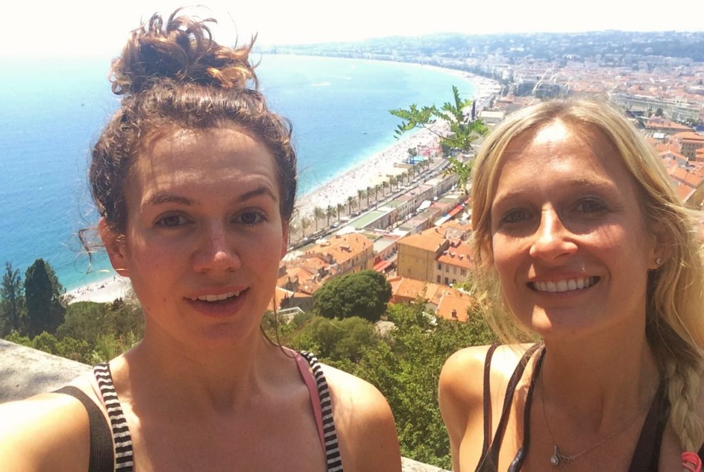 meggan and sister overlooking nice france