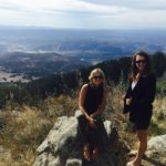 meggan and sister at a mountain lookout