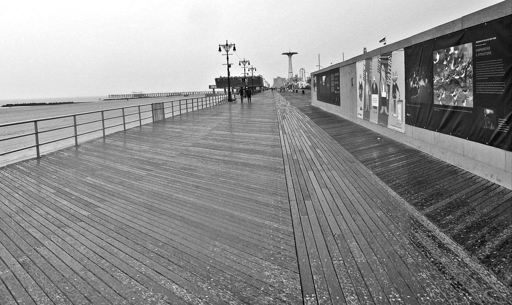 looking down a boardwalk (into the future)