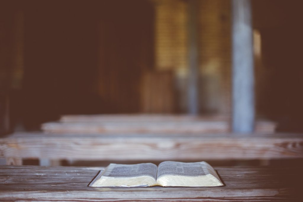 an open, abandoned book